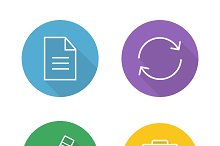 File editor icons. Vector