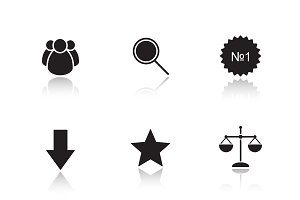 Marketing tools icons. Vector