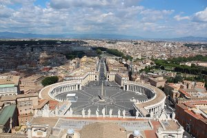 St. Peter's Basilica in Rome view