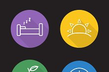 Everyday routine icons. Vector