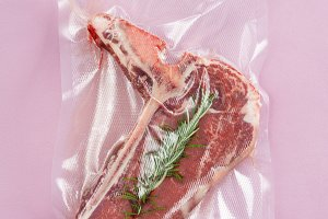 Vacuum sealed lamb chop