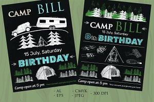 Camp Invite Birthday (vector)