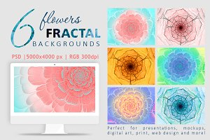 PACK flowers fractal backgrounds