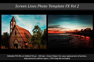 Screen Lines Photo Template FX Vol 2