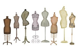 Vintage Dress Form Clip Art
