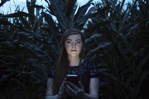 Gabby in Corn