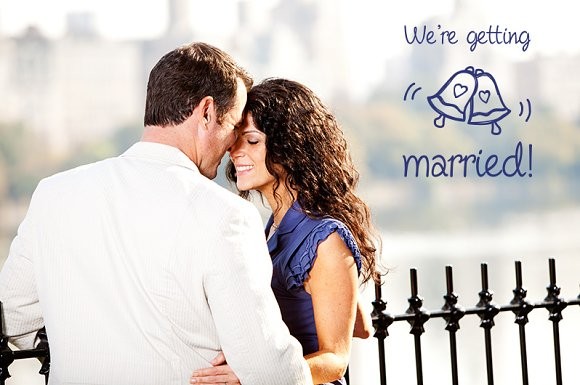 Engagement Photo Overlays in Photoshop Layer Styles