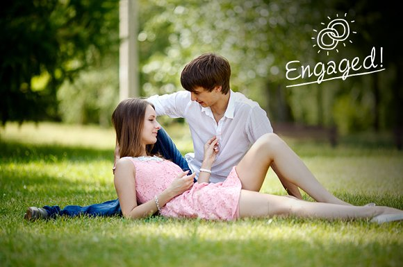 Engagement Photo Overlays in Photoshop Layer Styles - product preview 2