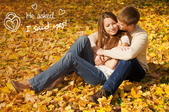 Engagement Photo Overlays in Photoshop Layer Styles - product preview 3