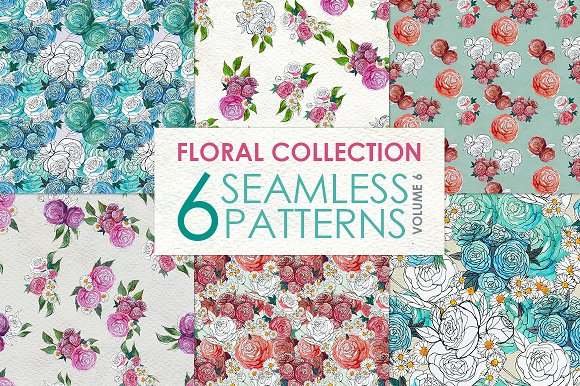 Floral Pattern Collection Vol. 6 - Patterns