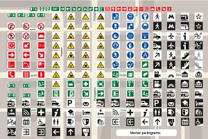 Set of pictograms for cards