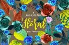 Set 9 Floral elements