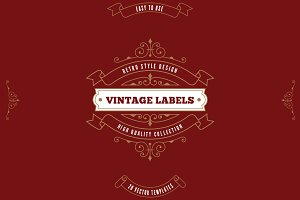 Vintage Labels Logo Templates v3