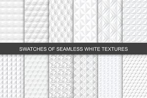 Seamless White 3d Textures. Swatches