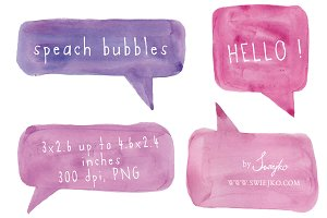 Speech bubbles, Watercolor