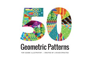 50 Vector Geometric Patterns