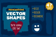 Textured vector shapes