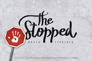 The Stopped Brush Typeface