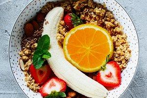 Healthy ingredients for breakfast