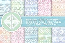 Pastel Watercolor Tribal Patterns