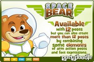 Space Bear Mascot