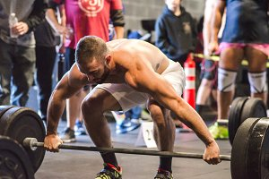 Crossfit Lifting Athletic Man