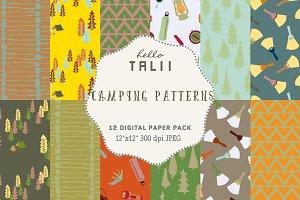 Camping Digital Paper