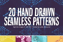 Hand Drawn Seamless Patterns by  in Shapes