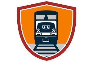 Diesel Train Freight Rail Crest