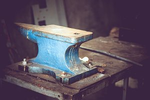 Old anvil from metal foundry
