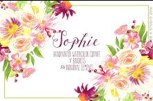 Sophie Watercolor Clip art