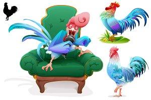 Blue Rooster symbol 2017