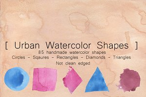 Urban Watercolor Shapes