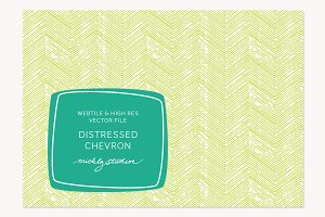 VECTOR & PSD Distressed Chevron