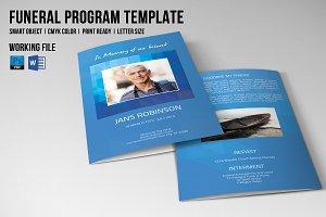 Funeral Program Template-V523