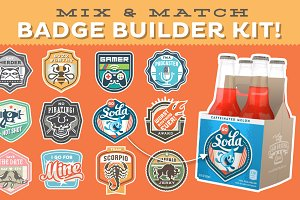 Magnificent Mix & Match Badge Kit