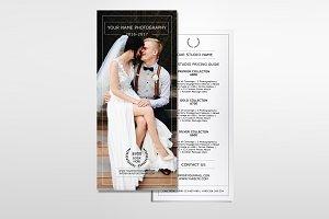 Photography Price List Rack card-310
