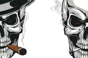 Skull smokes