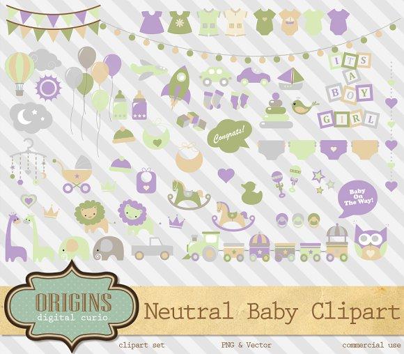 Gender Neutral Baby Vector Clipart