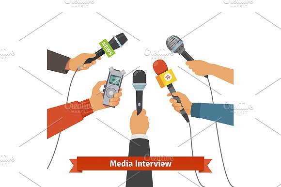 Interview and Journalism concept