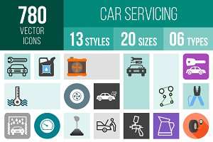780 Car Servicing Icons