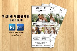 Wedding Photographer Rack Card-V311
