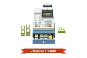 Opened cash register