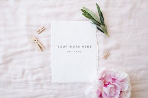 "5x7"" stationery mock up - peonies"