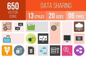 650 Data Sharing Icons