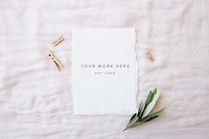 "5x7"" stationery mock up - natural"