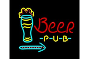 Neon Sign Beer Pub