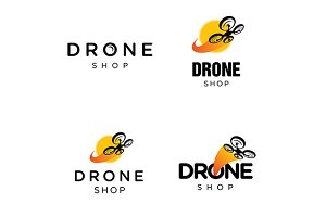 Drone Quadcopter Vector Logo