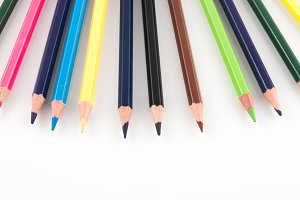 colors pencils in view