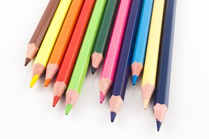 Color pencils pointing